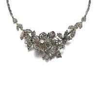 27. diamond brooch/necklace, late 19th century