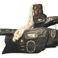 163. tlingit headdress, northwest coast
