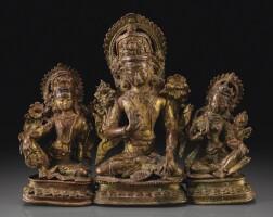 103. 十六世紀 尼泊爾 鎏金銅合金因陀羅坐像