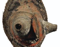 31. masque en vannerie, boiken, province du sepik de l'est, papouasie nouvelle-guinée