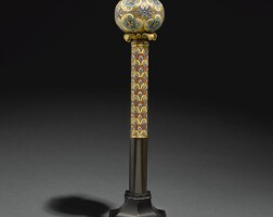 1. 德國,科隆,約1180-1200年立柱應製於十三世紀初 | 聖物匣頂端之聖球配同款立柱