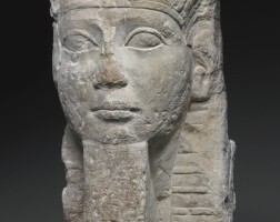 10. an egyptian limestone bust of a king, ptolemaic period, 305-30 b.c.