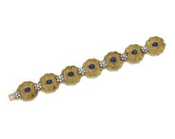 195. sapphire and diamond bracelet, 1960s