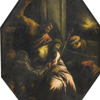 27. attributed to jacopo da ponte, called jacopo bassanobassano del grappa circa 1510 - 1592 | christ crowned with thorns