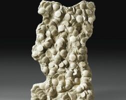 9. scutelles fossiles surbloc, miocène, touraine, france