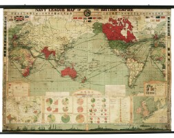 45. navy league map of the british empire, large wall map, [1930s]
