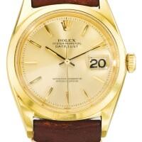 11. 勞力士(rolex) | 1600型號「datejust」黃金自動上鏈腕錶備日期顯示,年份約1964。