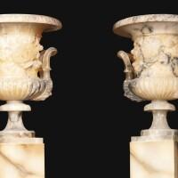 33. a pair of italian alabaster vases, tuscany, volterra, 19th century |