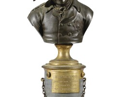 168. french, 19th centurybust of frederick iiof prussia |