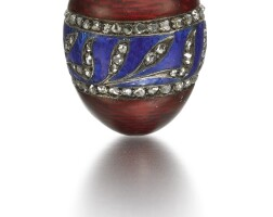 313. a fabergé jewelled gold and enamel egg pendant, moscow, 1899-1908
