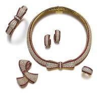 306. 紅寶石配鑽石首飾套裝, 梵克雅寶(van cleef & arpels)