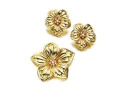 503. gold and diamond demi-parure, van cleef & arpels