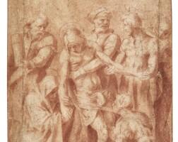17. follower of andrea del sarto   the descent from the cross