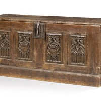 6. a carved oak coffer, 16th century and later |