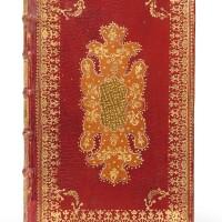 7. almanach pour l'année 1739. d'houry, 1739. reliure mosaïquée en maroquin rouge dans le goût de padeloup.