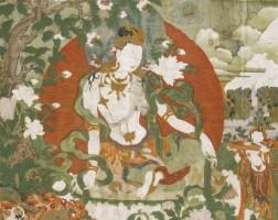401. a thangka depicting avalokiteshvara tibet, 18th century