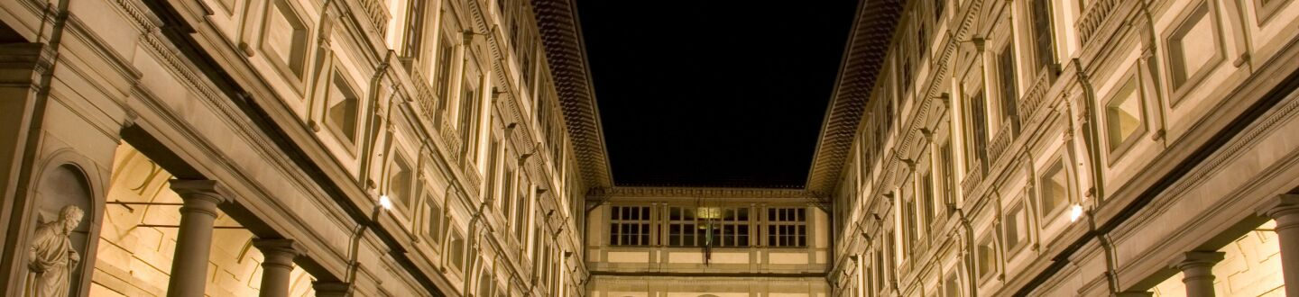 Exterior View, The Uffizi Gallery