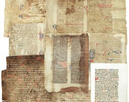 40. binding fragments, in latin [england, france, netherlands and italy, 13th-15th centuries]