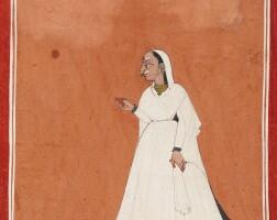 839. an illustration depicting a female siddha