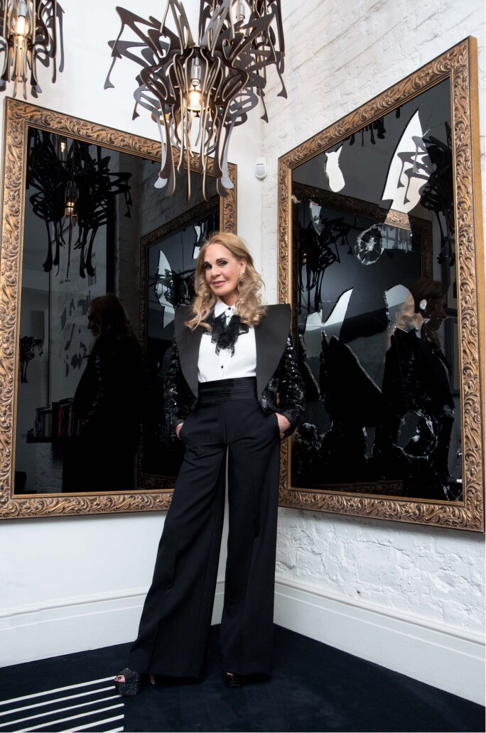 Collector Tiqui Atencio in her London home