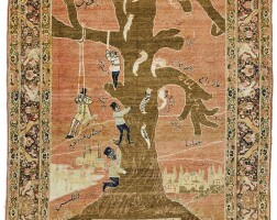 12. a tabriz pictorial rug, northwest persia