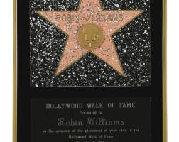 215. hollywood walk of fame award, presented to robin williams, 12 december 1990