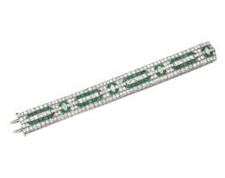 13. emerald and diamond bracelet, 1920s