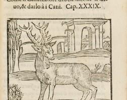 127. du fouilloux. la caccia di giacomo di foglioso... milan, antoni comi, 1615. petit in-8. vélin de l'époque.