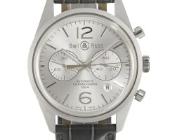 10. bell & ross | a stainless steel automatic chronograph wristwatch with date and registers ref br126-94-sp-10095 circa 2012