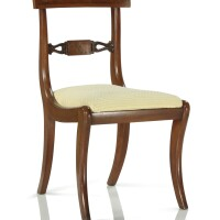 337. a regency carved and figured mahogany side chair, early 19th century |