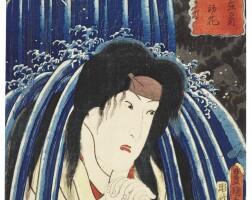43A. utagawa kunisada (1786–1864)hakone: the actor iwai hanshiro vi as hatsuhana edo period, 19th century |