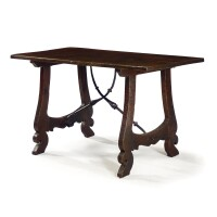 29. a spanish walnut and oak table 17th century and later