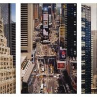 183. doug hall (b. 1944) | times square [triptych], 2004