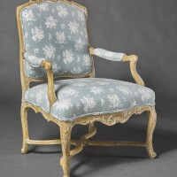 1007. an early louis xv stripped beechwoodfauteuil à la reine, circa 1735
