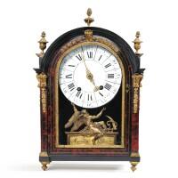 15. a louis xivgilt-bronze mounted red tortoiseshell and ebonised cartel clock, signed marguerite à paris, late 17th century  