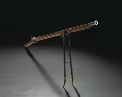 100. an superbimperial matchlock musket qianlong mark and period