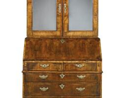732. a george i walnut bureau cabinet, circa 1725