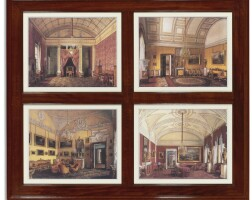 5001. a set of twenty-six reproductions of the hermitage and other palatial residences