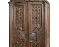 4. a neo-gothic carved oak cupboard, 19th century |