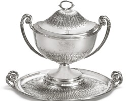 43. a george iii silver soup tureen, cover, and stand, paul storr, london, 1794 |