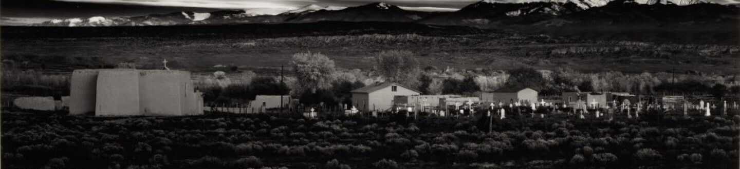 Ansel Adams photograph of a landscape in an auction selling Ansel Adams photographs
