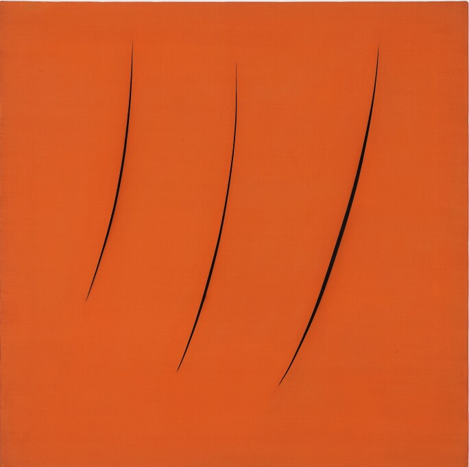 Lucio Fontana, Neon Structure for the Ninth Milan Triennial, 1959.
