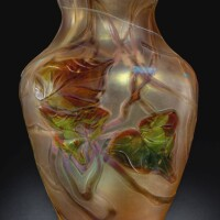 335. tiffany studios | carved cameo paperweight vase