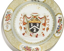307. a chinese export armorial soup plate, qing dynasty, yongzheng period, circa 1731 |