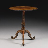 346. an early george iii mahogany pie crust tripod table circa 1760