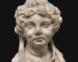 22. a roman marble bust of a young satyress, circa 1st/2nd century a.d. | a roman marble bust of a young satyress
