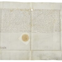 10. appointment by king ferdinand i of naples, of giulio antonio acquaviva (d.1481), as lieutenant general to ferdinand's son, alfonso, in latin; dated at castello aragonese, aversa, 27 july 1479