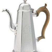 326. a george i silver coffee pot, jacob margas, london, 1718 |