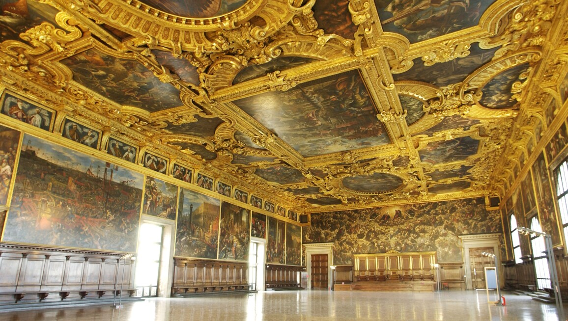 Image result for venice italy san marco palazzo ducale interior tintoretto