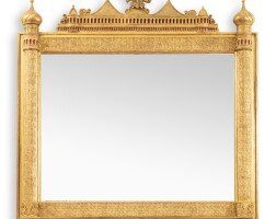 12. a russian giltwood over-mantle mirror by a. gecele, st. petersburg, dated 1892 |